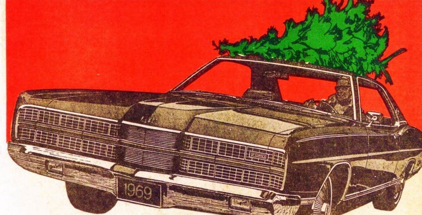 1969 Ford Christmas Ad, Car Ads With A Holiday Theme