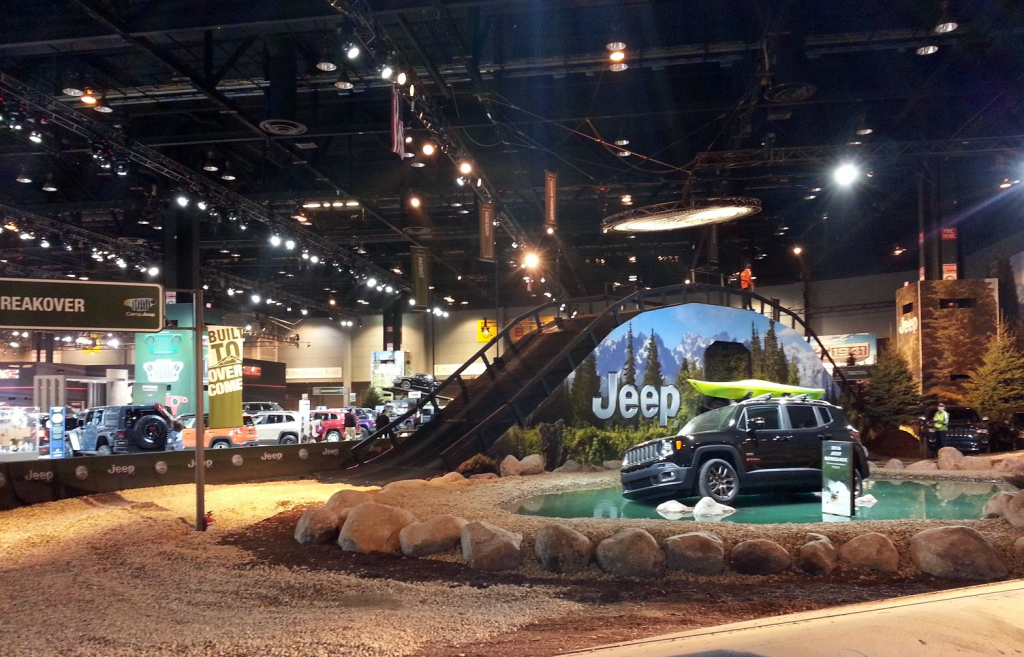 Jeep Display at the 2016 Chicago Auto Show