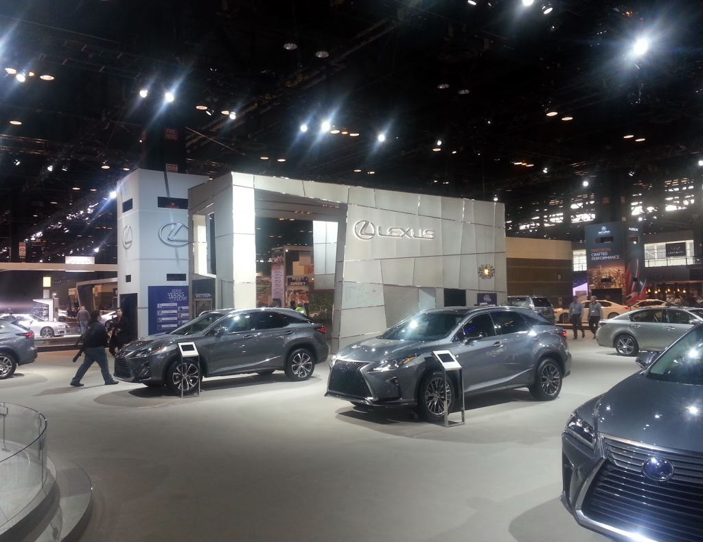 Lexus Display at the 2016 Chicago Auto Show