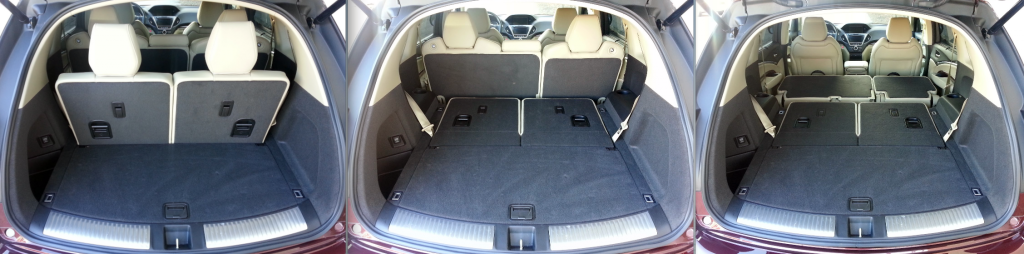 Flush Folding 2nd And 3rd Row Seats Enhance The Utility Of Mdx S Generously Sized Cargo Hold