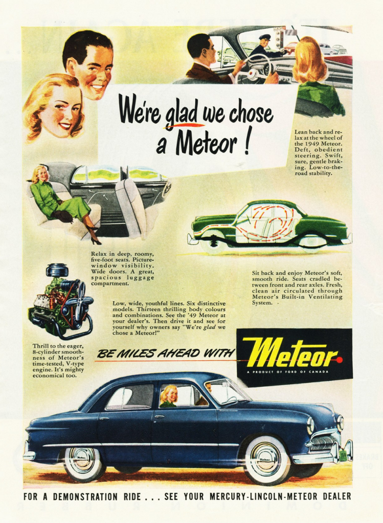 1949 Meteor ad