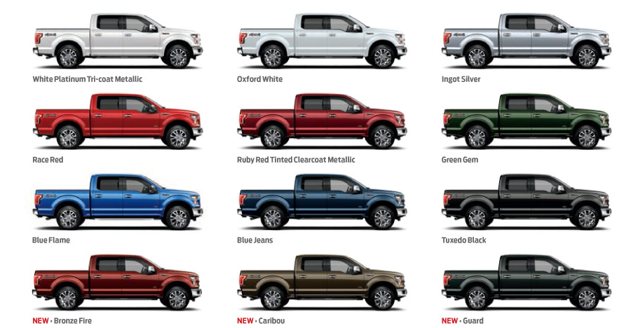 Ford F 150 Colors