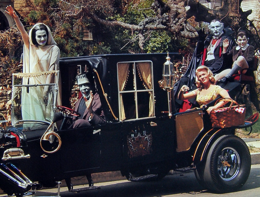 Munsters Koach with cast, What Was The Munsters Car