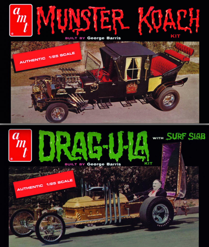 Munsters Koach and Drug-U-La model kits, What Was The Munsters Car