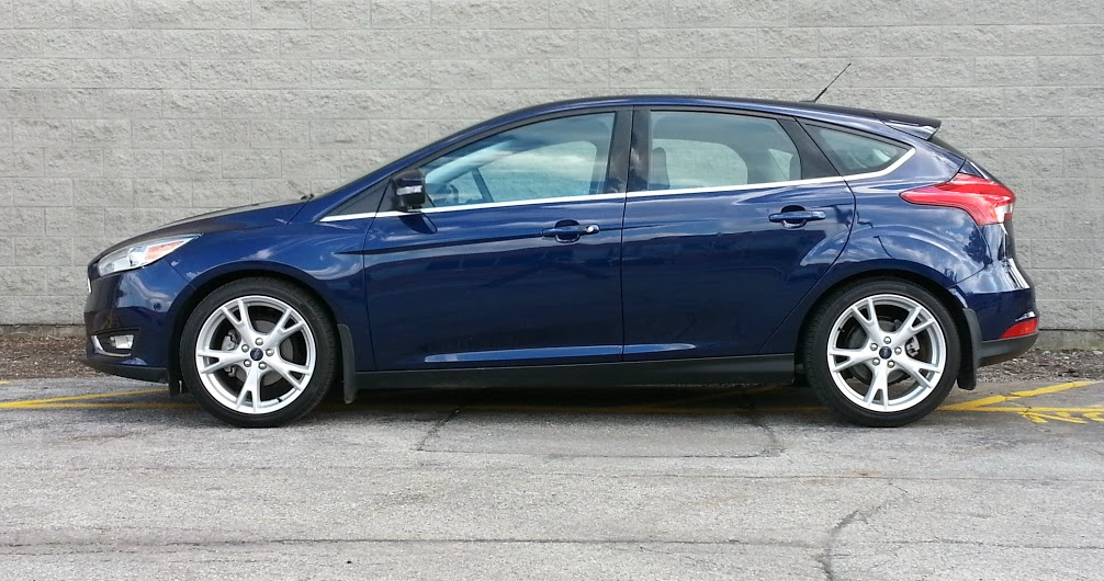 2016 Ford Focus Titanium profile in Kona Blue