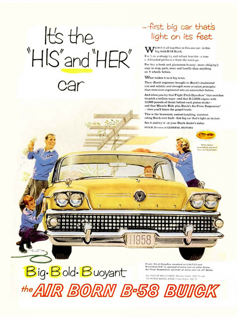 1958 Buick Ad, Yellow