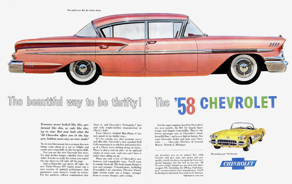 1958 Chevrolet Ad in Coral