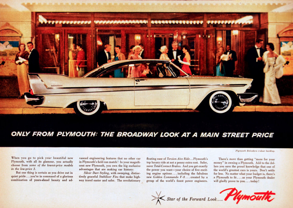 1958 Plymouth Ad