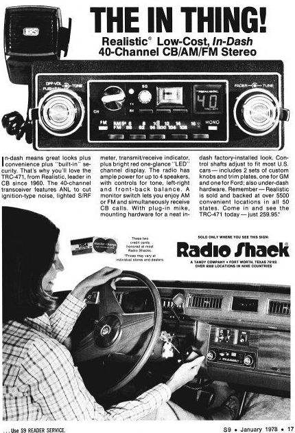 Radio Shack CB-Radio ad