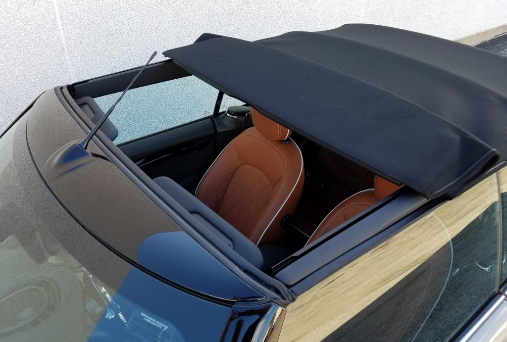 2016 Cooper Convertible, sunroof mode