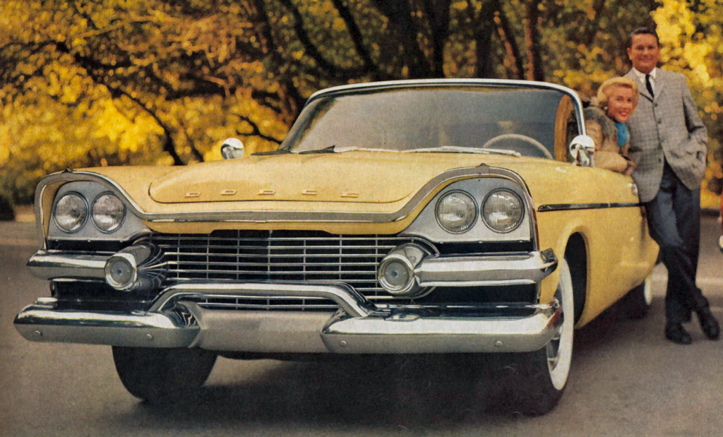 1958 Dodge Ad, yellow, Classic Ads From 1958