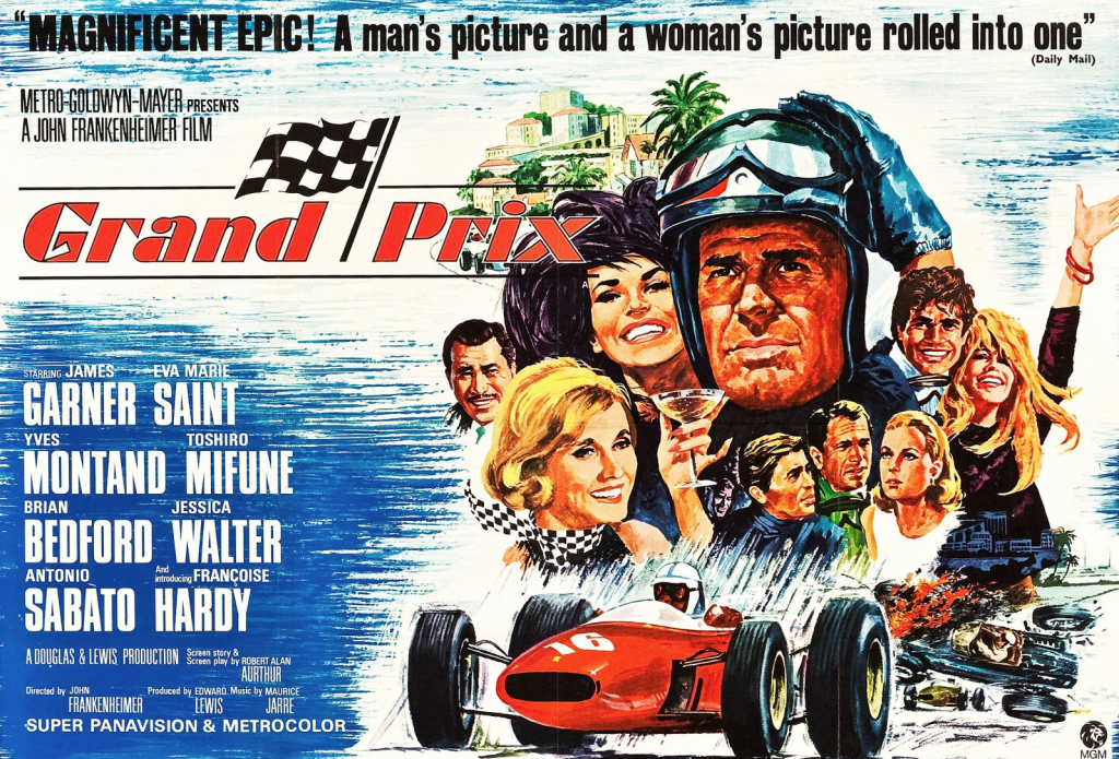 Grand Prix movie poster, James Garner