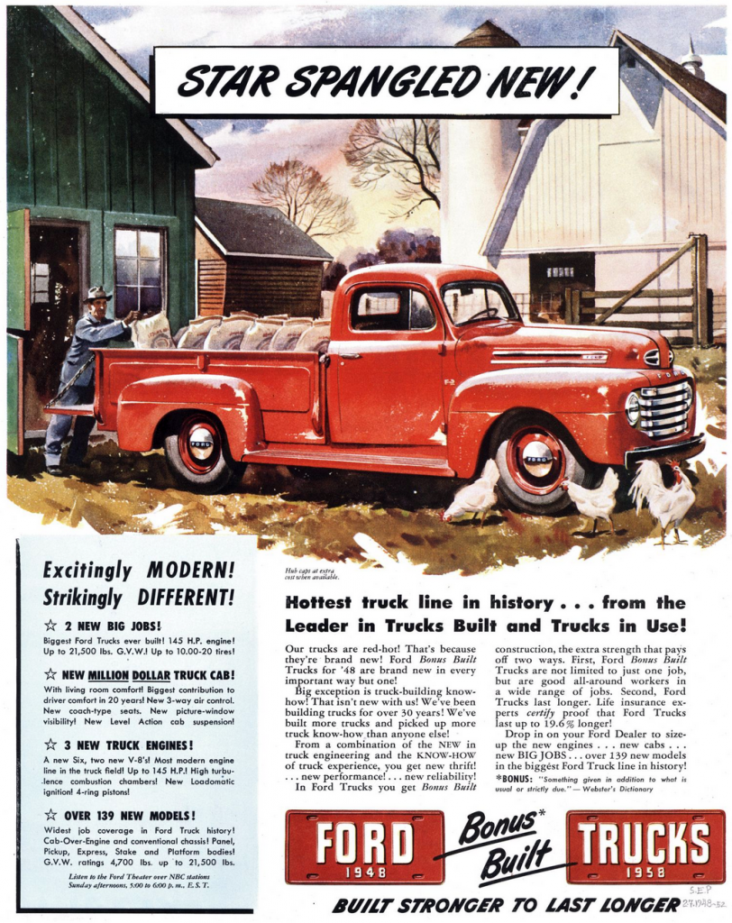 1948 Ford F-1 ad