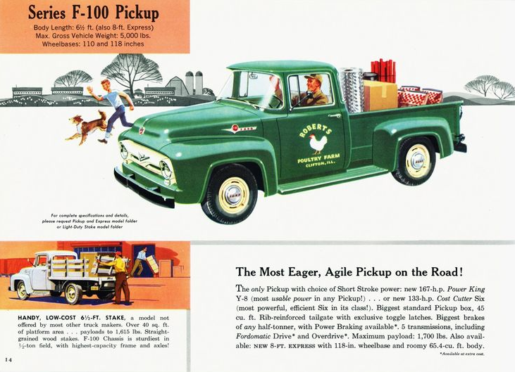 1956 Ford Pickup ad