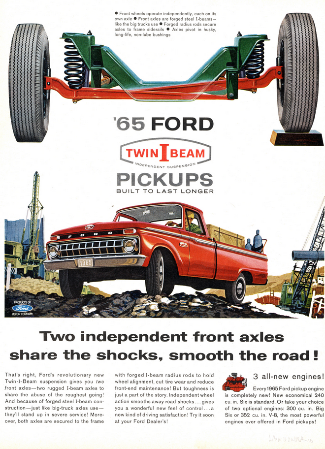 1965 Ford Truck Ad, Twin I Beam