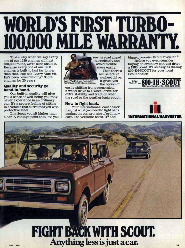 1980 International Scout Ad
