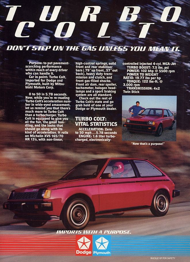 1984 Dodge/Plymouth Colt Ad