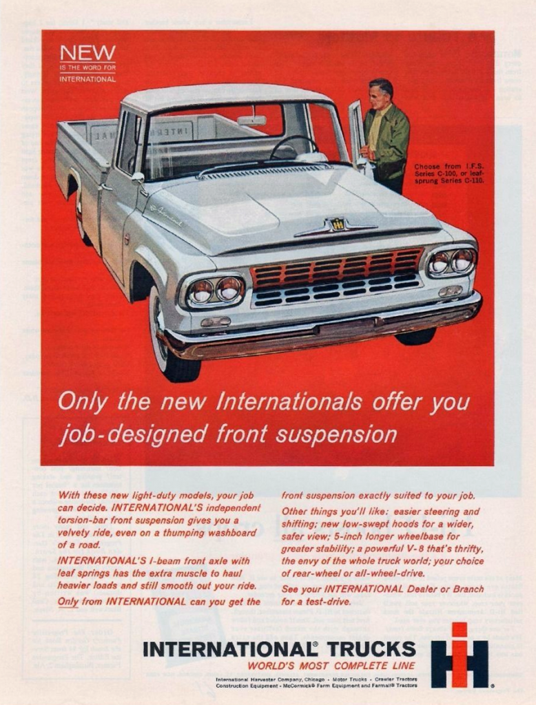 60s Madness 10 Years Of Classic Pickup Truck Ads The Daily Drive 19601970 Mercedes Benz Trucks 1961 International Ad