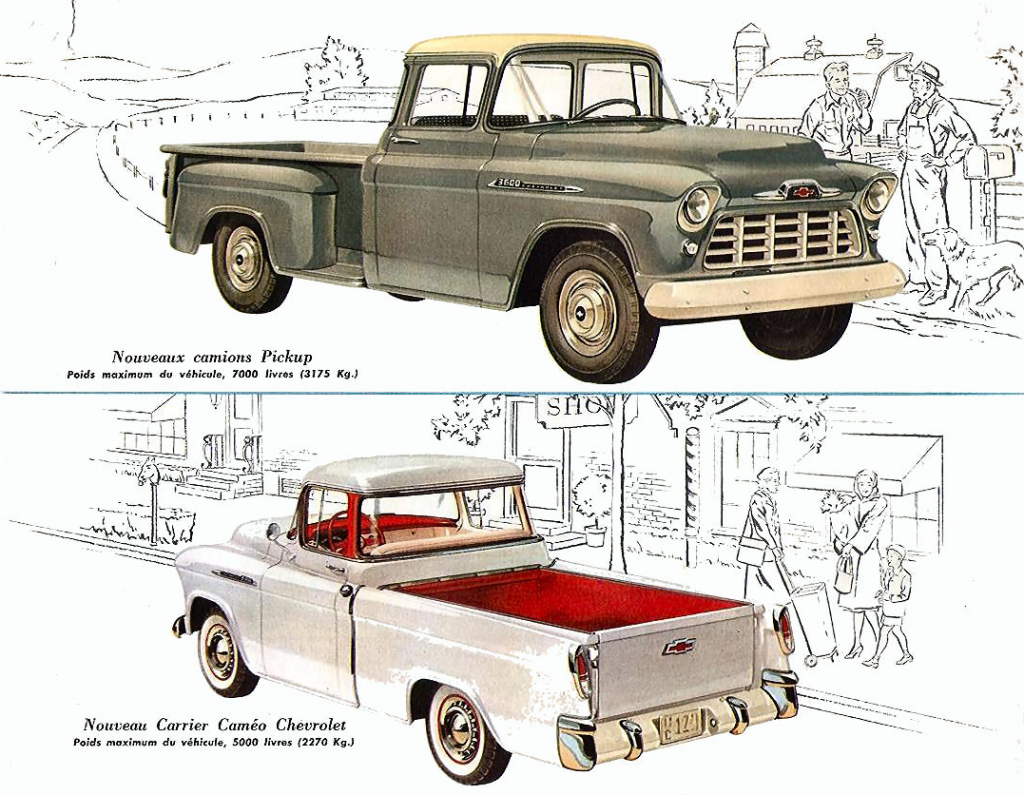 1956 Canadian Chevrolet Pickup Ad