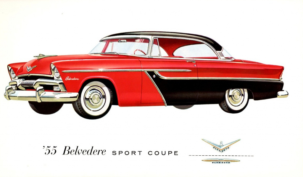 1955 Plymouth Belvedere design