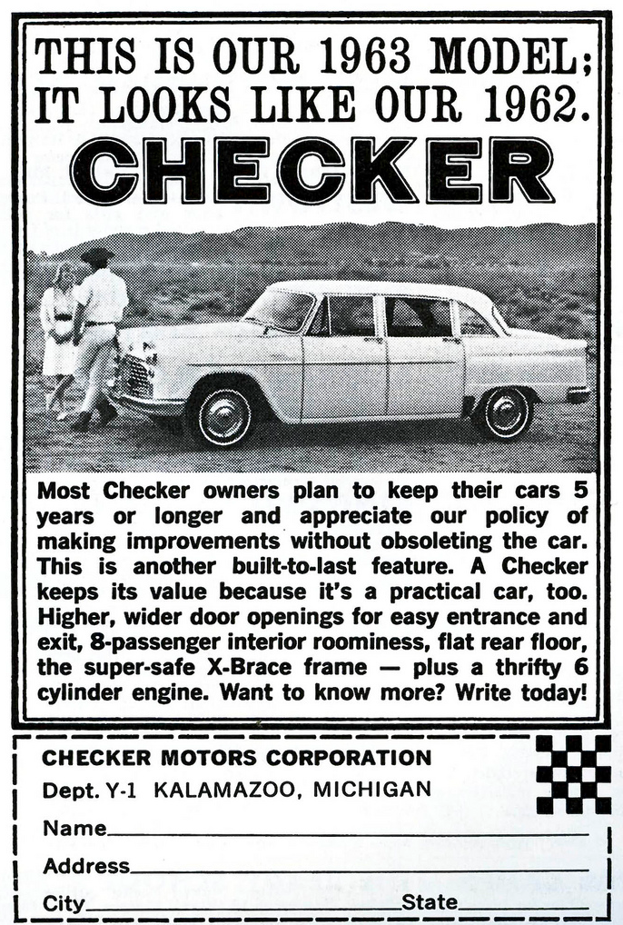 1963 Checker Ad