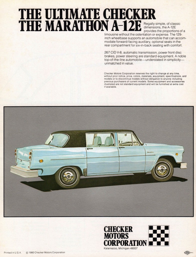 1980 Checker Ad
