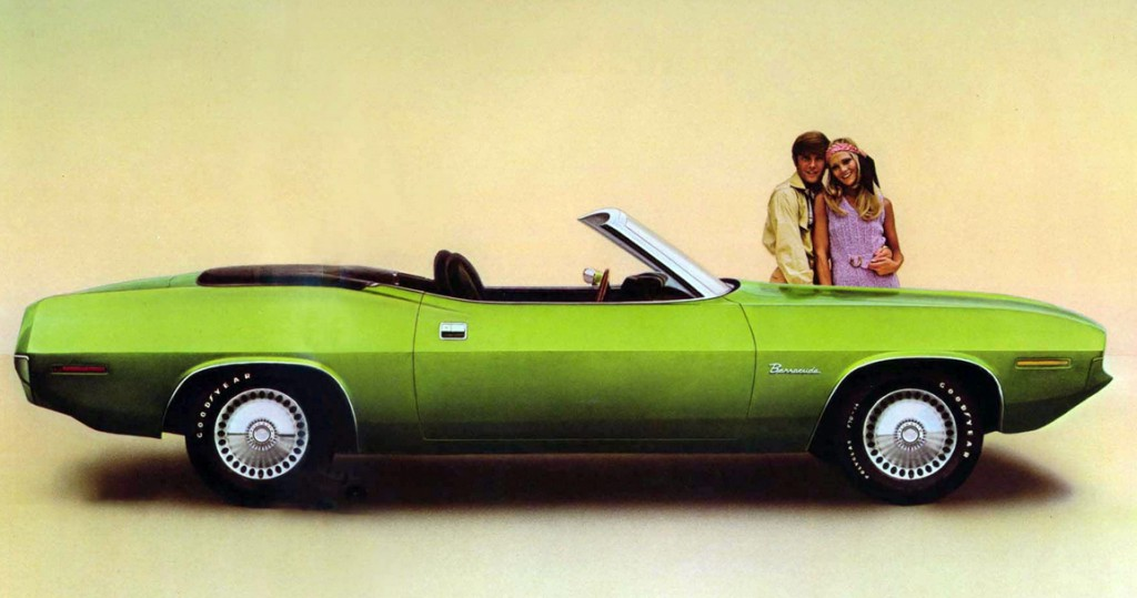 1970 Plymouth Barracuda, green, 1970 Sporty Compacts