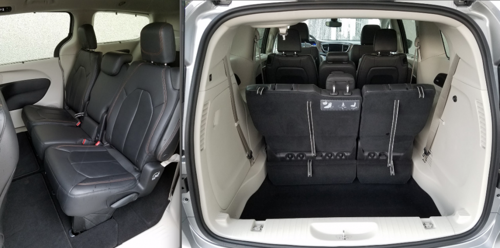 2017 Pacifica Stow 'n go seats