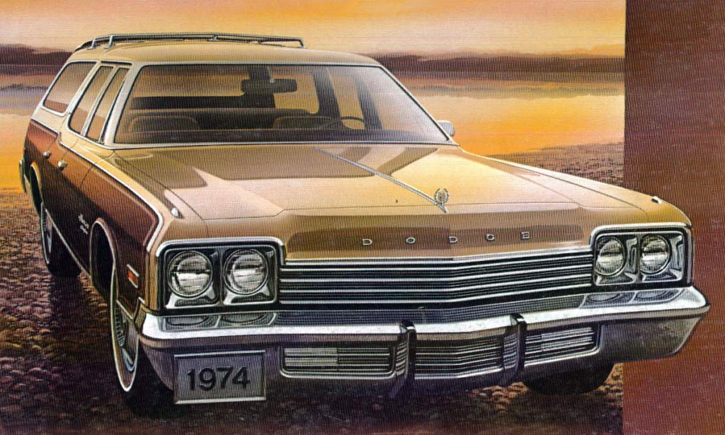 1974 Dodge Monaco Brougham, American Wagons of 1974