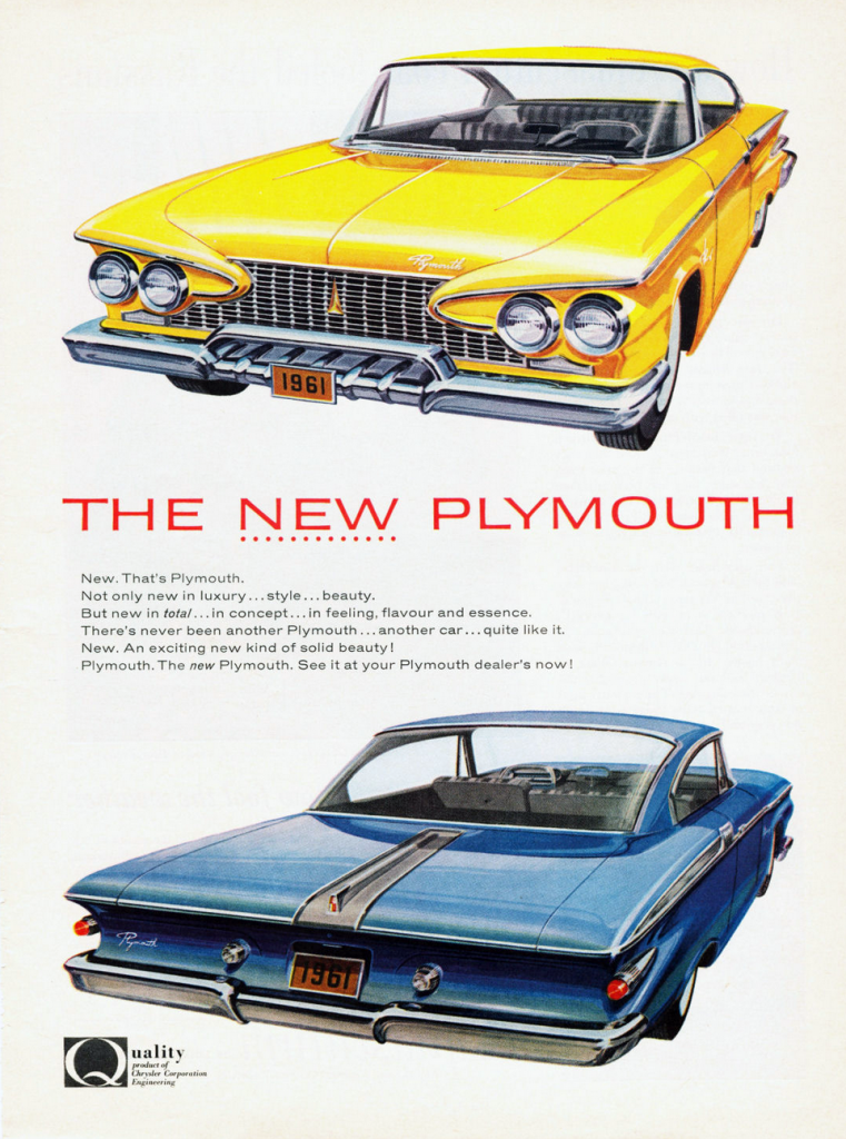 1961 Plymouth Ad