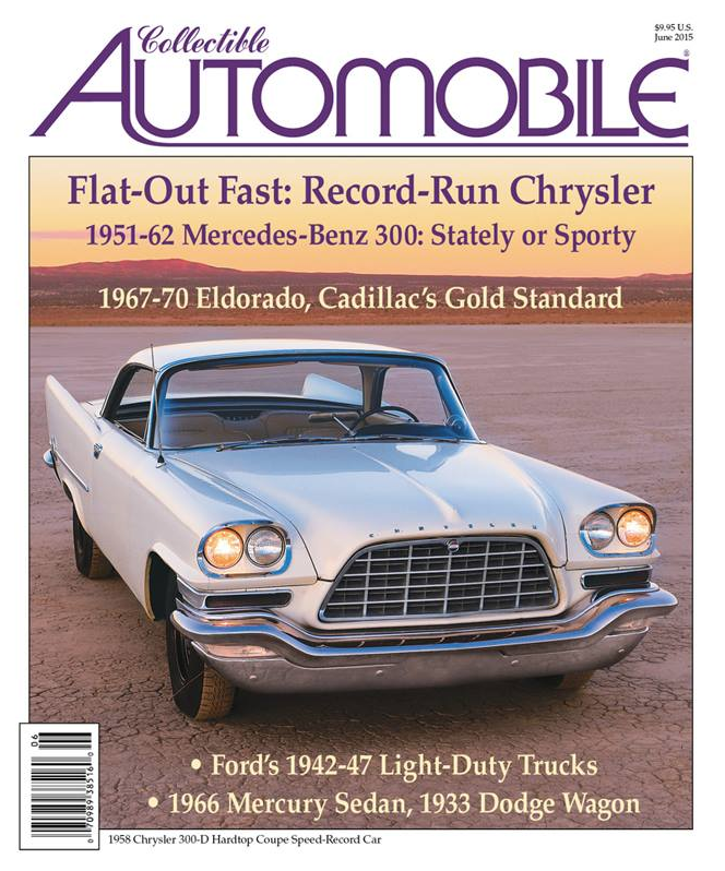 June 2015 issue of Collectible Automobile Magazine