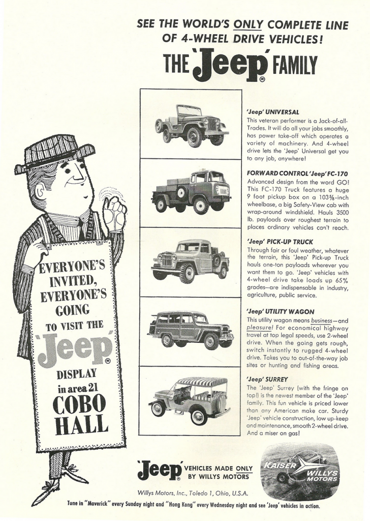 1960 Jeep Full-Line Ad