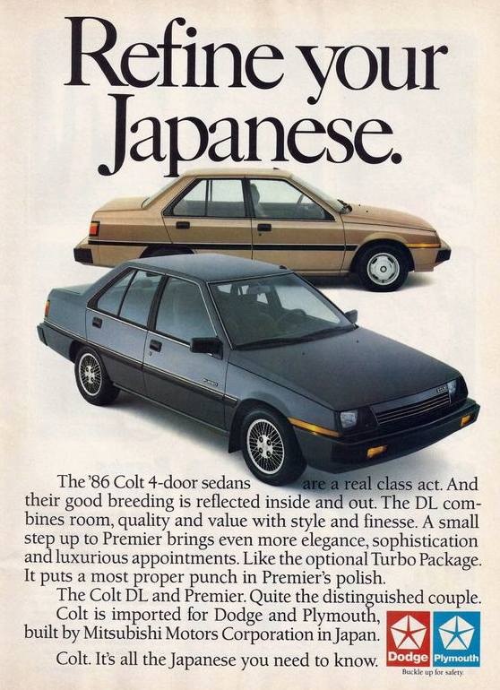 1986 Plymouth Colt Ad