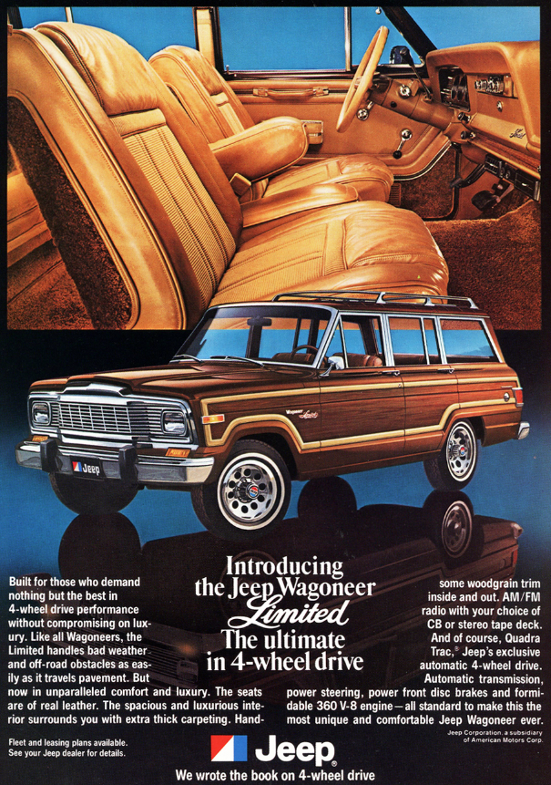 Jeep Wagoneer 2018 >> Model-Year Madness! 10 Luxury-Car Ads From 1979 | The Daily Drive | Consumer Guide® The Daily ...