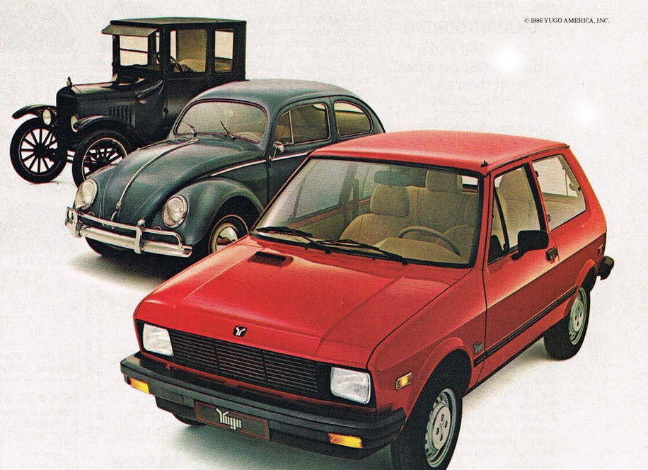 1986 Yugo Ad, Classic Ads From 1986