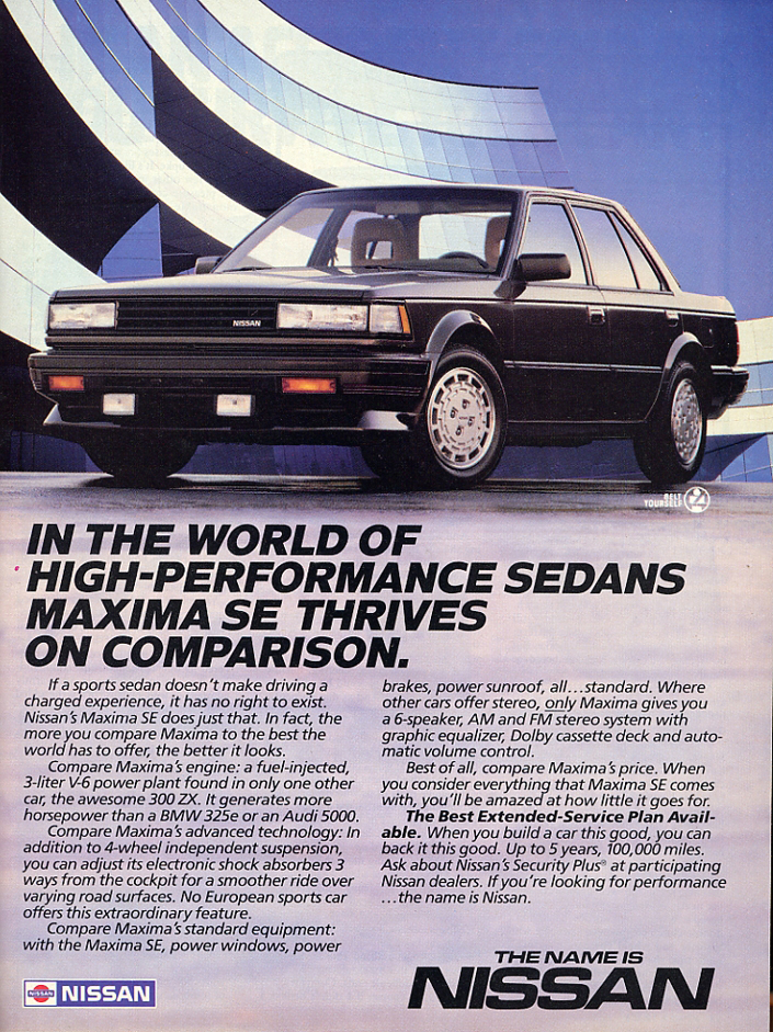 Model Year Madness 10 Classic Ads From 1986 The Daily