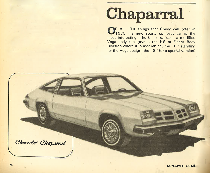 1975 Chevrolet Chaparral, 1975 Chevrolet Monza Review
