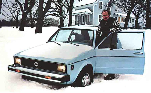 1980 Volkswagen Rabbit ad, Car Ads Featuring Snow