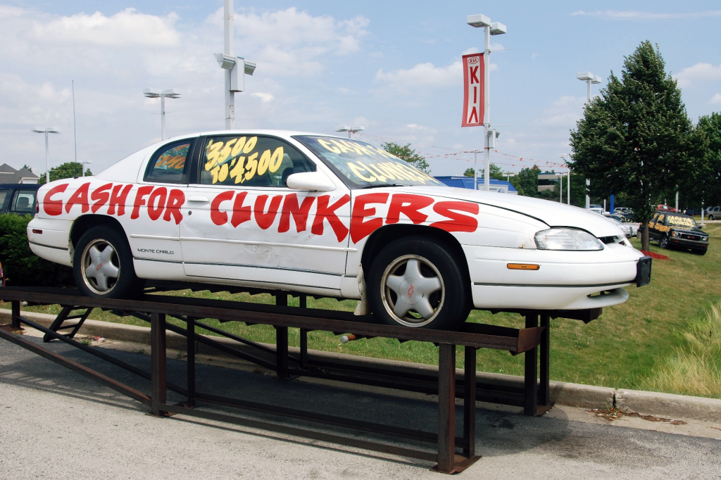 Cash for Clunkers car