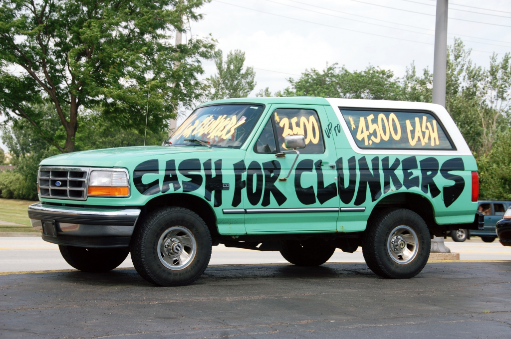 Cash for Clunkers rolling billboard