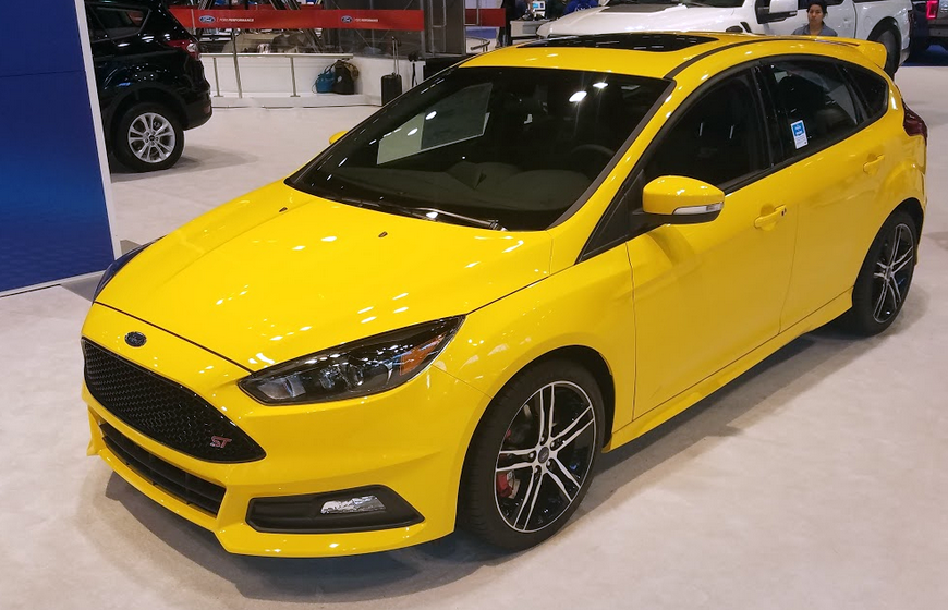 2017 Ford Focus ST in Triple Yellow