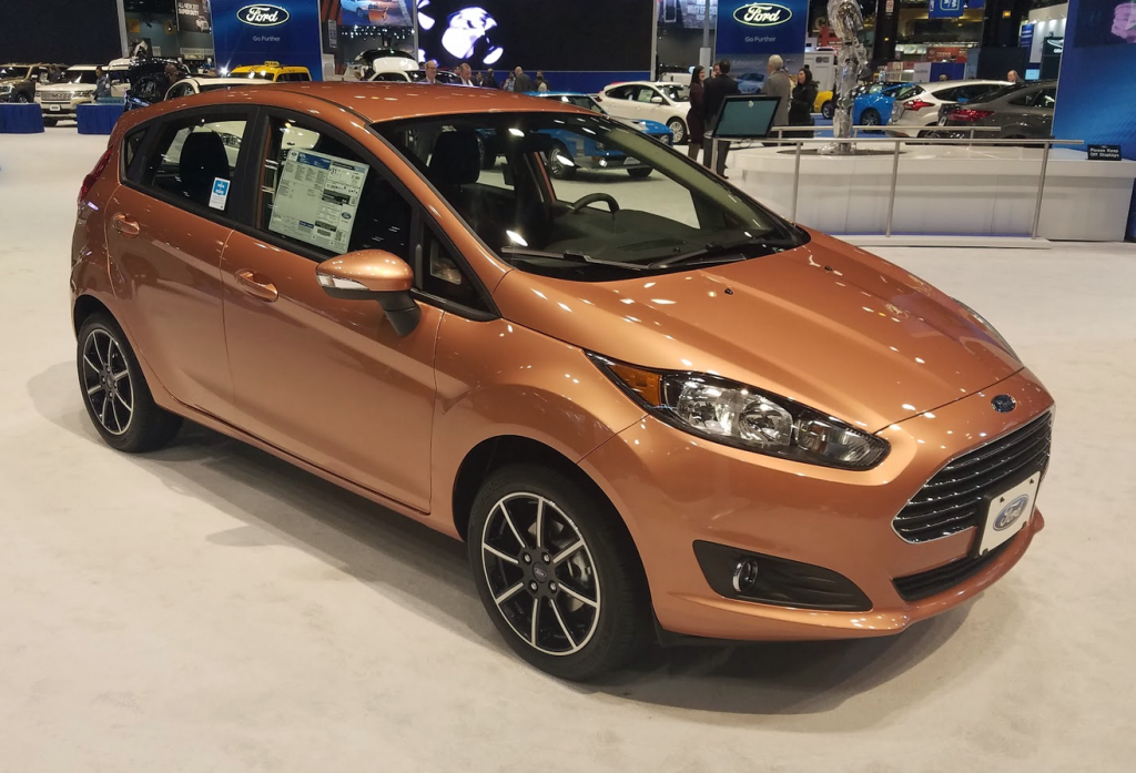2017 Ford Fiesta hatchback in Chrome Copper