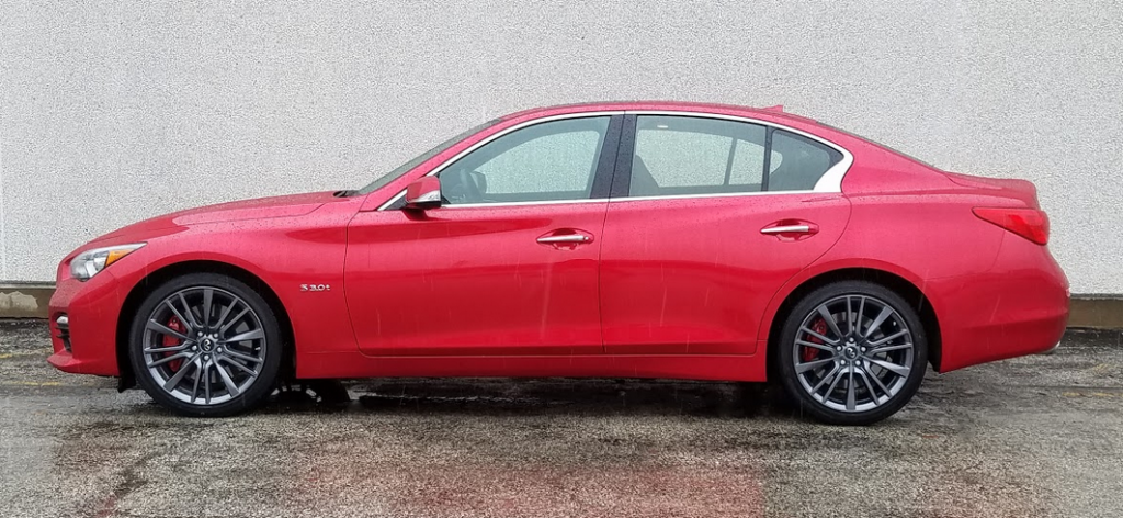 2017 Infiniti Q50 Red Sport profile