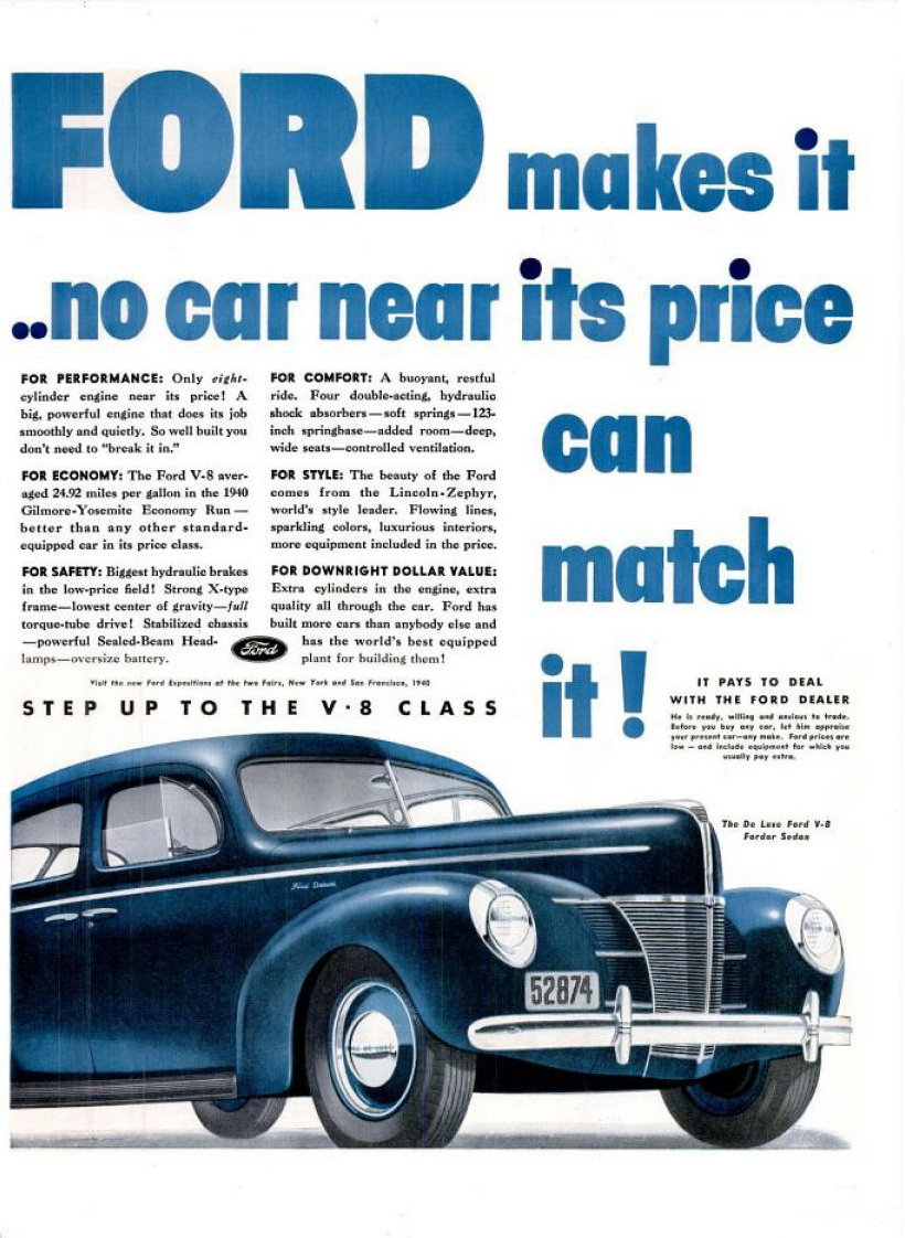 1940 Ford Ad