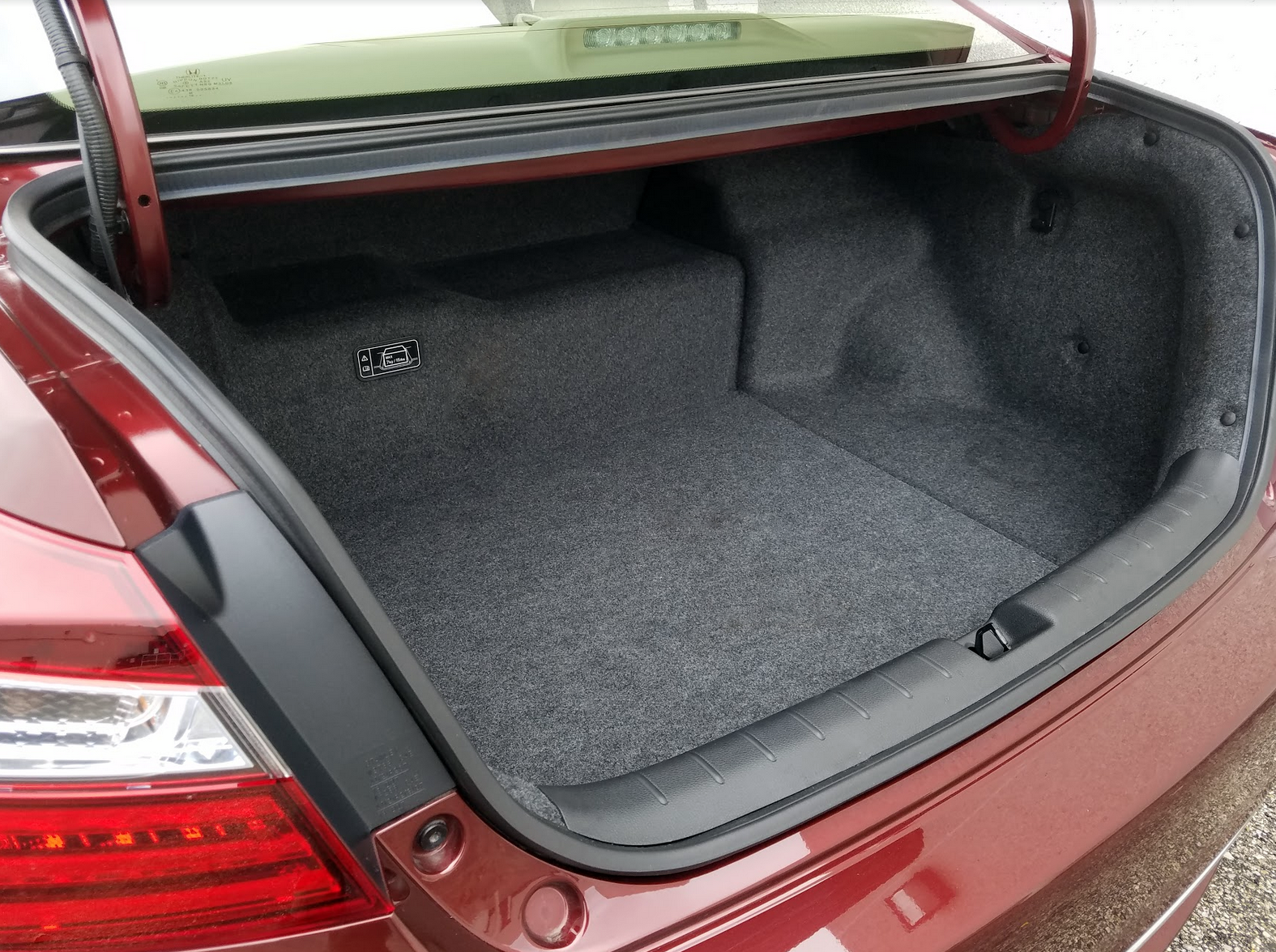 2017 Honda Accord Hybrid Touring Trunk Space
