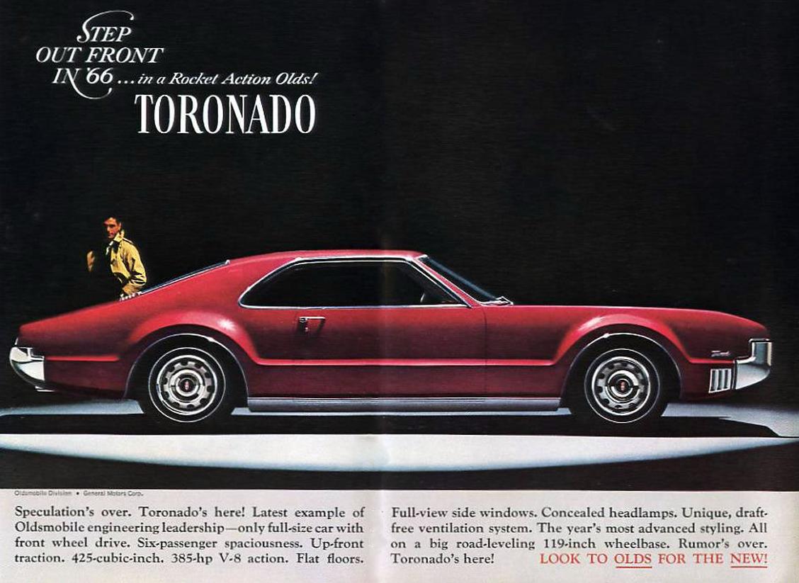 1966 Oldsmobile Toronado Ad