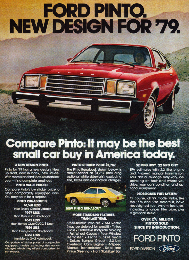 1979 Ford Pinto Ad