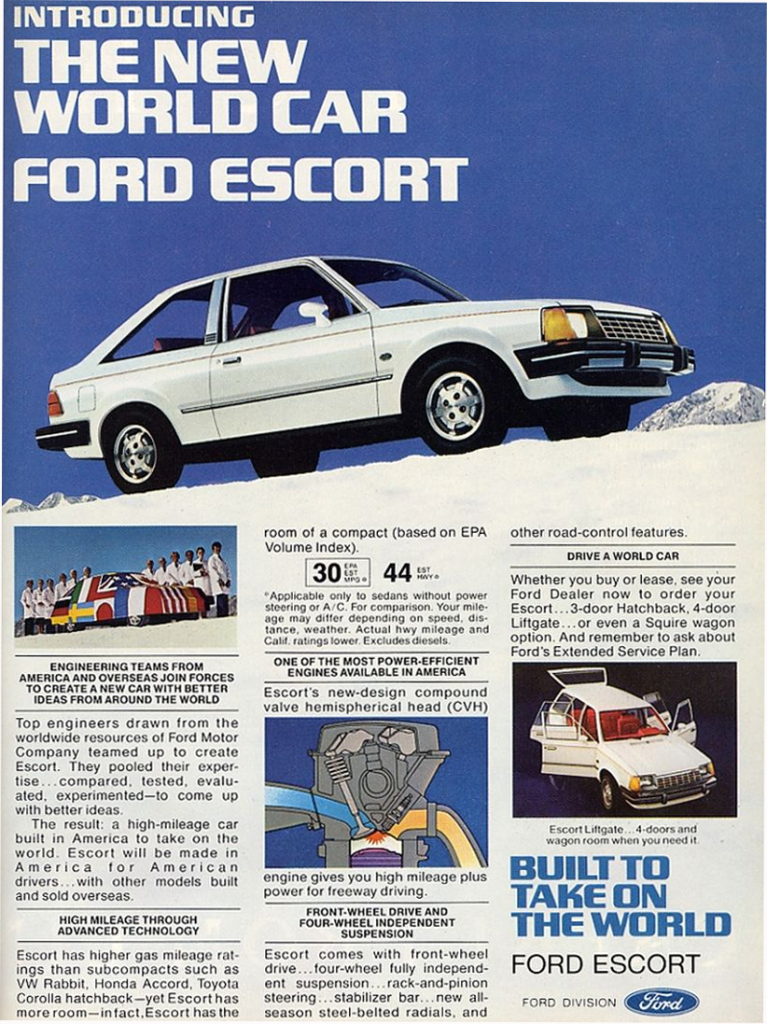 1981 Ford Escort Ad