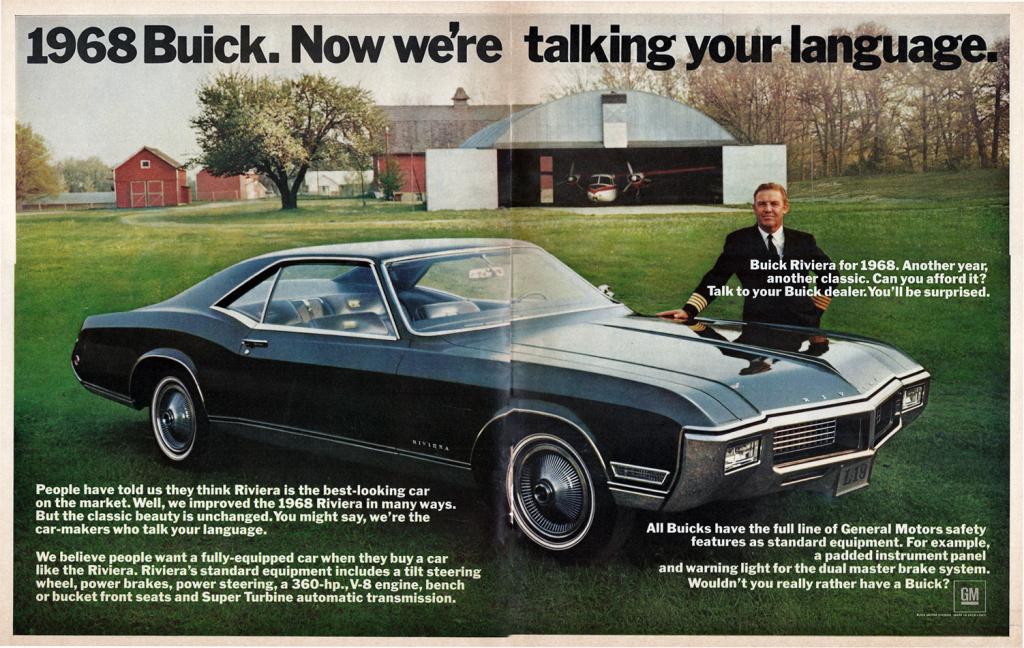 1968 Buick Riviera Ad
