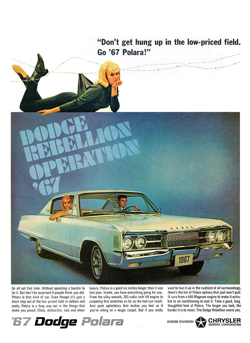 Model Year Madness 10 Classic Ads From 1967 The Daily